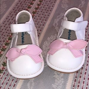Jolly Kids White Shoe with Pink Bow